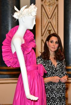 The pregnant Duchess of Cambridge was accompanied by the Countess of Wessex, wife of the Queen's youngest son, Prince Edward, to launch the Commonwealth Fashion Exchange.