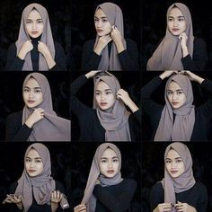 This is a basic everyday hijab style using a gorgeous grey scarf to wear with a full black outfit or an abaya for a casual day. Once we get our scarves fixed we can pick easily any outfit there to…