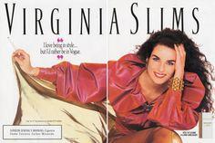 Models Advertising Viginia Slims