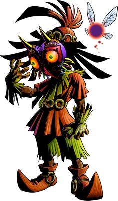 Skull Kid, Majora's puppet, the main villan who stole Majora's Mask from the Happy Mask Salesman.