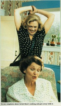 """Kathleen Turner as Beverly Sutphin in """"Serial Mom"""" directed by John Waters. Scary Movie Films, Sci Fi Movies, Film Movie, Funny Movies, Movie Characters, Female Characters, Kathleen Turner, John Waters, Inspirational Movies"""