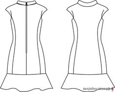 Ready pattern dresses Carolina | Patterns online lessons and modeling
