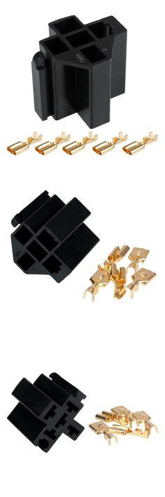 1 Set Kendaraan Mobil Auto 5 Pin Relay Socket Holder dengan 5 Pcs