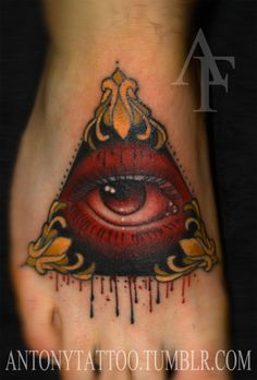 traditional all seeing eye tattoo