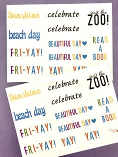 Excited to share this item from my shop: Planner Stickers Summertime text. Calendar Stickers, Journal Stickers, Planner Stickers, Day Book, Handmade Items, Handmade Gifts, Beach Day, Sticker Paper, Beautiful Day