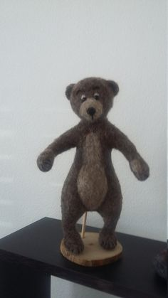 Needle felted teddy bear needle felted animal by mirtilio on Etsy
