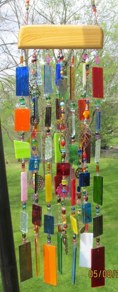 Stained Glass Art Wind Chime.