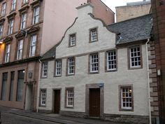 Oldest house in Greenock, Scotland - the Dutch Gable House - 1755