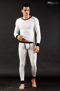 2016 Spring Autumn Winter Thin Men Thermal Underwear Modal Close ...