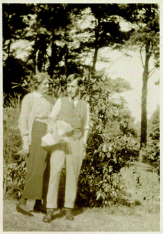 A beautiful shared smile.     Virginia Woolf's Garden: An Intimate View
