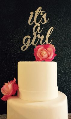 It's a Girl Cake Topper for Baby Shower by PSWeddingsandEvents