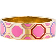 Pre-owned Kate Spade New York When In Rome Bangle ($75) ❤ liked on Polyvore featuring jewelry, bracelets, bracelets & bangles, kate spade bangle, geometric jewelry, enamel jewelry and hinged bracelet