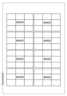 Cartela de Bingo de palavras para alfabetização Baby Bingo, Periodic Table, Education, Professor, God, Interactive Activities, Kids Learning Activities, Literacy Activities, Word Bingo