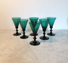SET OF SIX VICTORIAN CONICAL WINES
