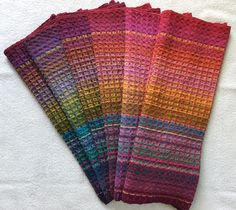 Ravelry: lauralou64's Rainbow Huck Towels