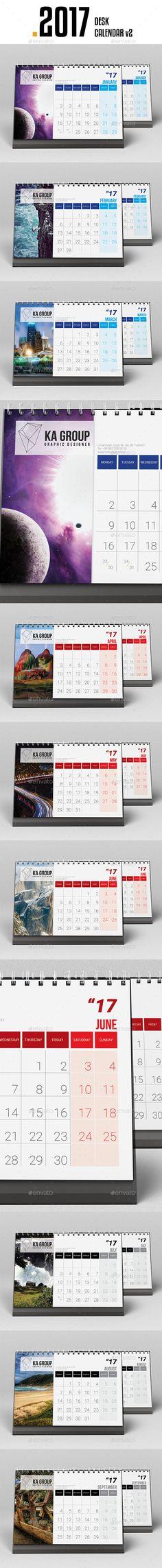 Wall Calendar 2017 Calendar 2017, Template and Walls