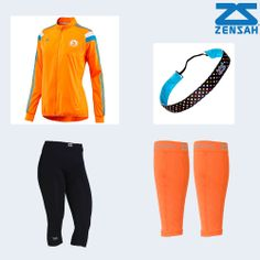 Including Boston signature jacket, high compression capri, neon orange ...