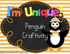 This product includes patterns to create the penguin along with an area for student writing.  I have used this with my 2nd graders as a classroom teacher, and now with students in small group counseling for self concept.