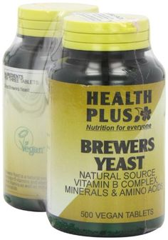 Health Plus Brewers Yeast 300mg Vitamin B Supplement – 2 X Packs Of 500 Tablets, total 1000 Tablets (Pack of 2) - http://vitamins-minerals-supplements.co.uk/product/health-plus-brewers-yeast-300mg-vitamin-b-supplement-2-x-packs-of-500-tablets-total-1000-tablets-pack-of-2/