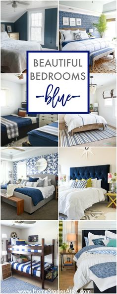 Beautiful Bedrooms in Blue by Home Stories A to Z