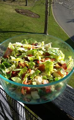 Shaved Brussels Sprouts and Bacon Salad