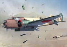 """In July 1937, when Japan entered into full-scale war with China (the Second Sino-Japanese War), the Japanese Army Air Force found itself short of modern long-range bombers pending delivery of the Mitsubishi Ki-21 """"Sally"""", which was undergoing prototype trials, and so required an interim purchase of aircraft from abroad. Italy was willing to give priority to any Japanese orders over its own requirements, and offered the Caproni Ca.135 and the BR.20."""