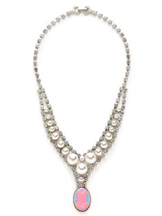 Cameo Jobim Pearl & Crystal Pendant Necklace from Tom Binns Jewelry on Gilt