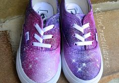 Custom Painted Galaxy Shoes For Kids by KillerConstellations, $110.00