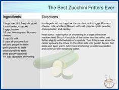 Zucchini Cheese, Zucchini Fritters, Chopped Cheese, Cookbook Recipes, Garlic Powder, Stuffed Peppers, Diy, Zucchini Tots, Zuchinni Fritters