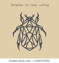 Template animal for laser cutting. Abstract geometric beetle for cut. Stencil for decorative panel of wood, metal, paper. Cut Animals, Paper Animals, Geometric Quilt, Bird Logos, Decorative Panels, Origami, Pyrography, String Art, Hand Embroidery