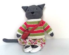 Rag Doll Cat Cat Doll with Clothes Dress Up Cloth Doll