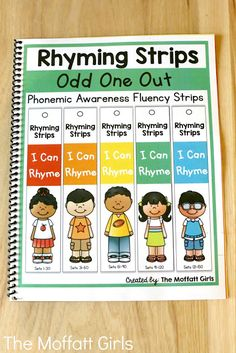 With Rhyming Strips, students work on hearing the ending sounds to identify a rhyme. Phonemic Awareness Kindergarten, Phonemic Awareness Activities, Preschool Literacy, Teaching Phonics, Early Literacy, Kindergarten Teachers, Phonics Games, Phonological Awareness, Free Preschool