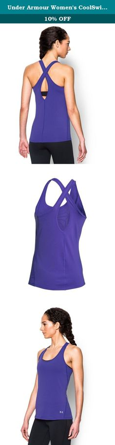 Under Armour Women's CoolSwitch Tank, Deep Orchid (899), Small. UA CoolSwitch uses an exclusive coating on the inside that pulls heat away from your skin, making you actually feel cool & able to perform longer. Super-light HeatGear fabric delivers superior coverage without weighing you down. Signature Moisture Transport System wicks sweat to keep you dry & light. Crossover back design. Scoop neck with slight drop-tail hem. Mesh side paneling for extra ventilation . Large sleeve opening…