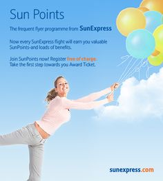 Welcome to SunPoints, the SunExpress Frequent Flyer Programme! For more information about our frequent flyer programme please visit http://www.flysxs.com/39
