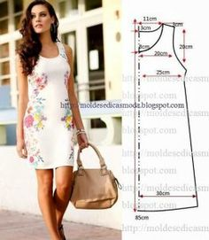 We have a ton of printable sewing patterns and we promise to keep adding more! 45 Free Printable Sewing Patterns is sure to hold your next project. Fashion Templates to make an easy-sew dress Ropa veraniega: ideas y patrones El patrón del vestido veranie Free Printable Sewing Patterns, Dress Sewing Patterns, Clothing Patterns, Free Sewing, Sewing Ideas, Sewing Projects, Sewing Hacks, Diy Clothing, Sewing Clothes