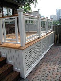 white and oak deck