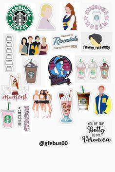 Gabriela Isanieris riverdale and Starbucks sticker template Gabriela Isanieris riverdale and Starbucks sticker template Bubble Stickers, Meme Stickers, Phone Stickers, Cool Stickers, Printable Stickers, Planner Stickers, Free Printable, Tumblr Wallpaper, Iphone Wallpaper