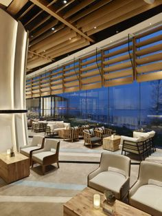 Cafe bord de Mer at the Auberge Discovery Bay Hotel, Hong Kong designed by Kinney Chan