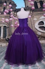 Purple ballgown