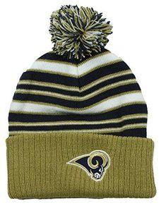 5e219081eb9 NFL Little Boys Kids St. Louis Rams Basic Cuffless Pom Pom Knit Beanie