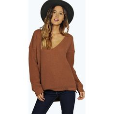 Cropped Crew Neck Sweater With Side Slits ($15) ❤ liked on ...