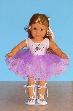 american girl doll ballerina   American Girl Doll Clothing - Lavender Lace Ballerina Costume