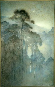Alice Ravenel Huger Smith(American, 1876-1958)- Swamp at Night