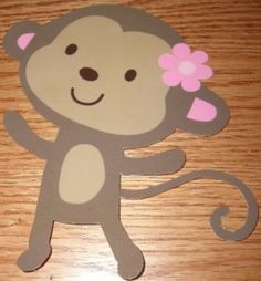 12 Jungle Jill Monkey Baby Shower Decorations, All hand crafted, adorable, party supplies on Etsy, $15.00
