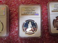Russia Silver 2 Rubles 2002 Zodiac Virgo NGC PCGS PF 68 Ultra Cameo Silver Coin  | eBay