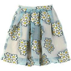 Redvalentino Large Floral Circle Skirt