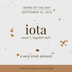 Iota Is The Ninth Letter Of The Greek Alphabet. In Addition To The  Definition In