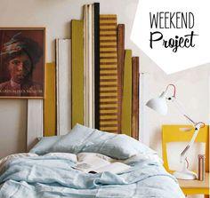 stripped wood headboard - weekend project from poppytalk