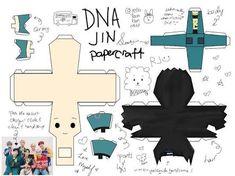 Resultado de imagem para DIY BTS DNA-themed Papercraft Chibis
