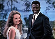 Katharine Houghton and Sidney Poitier, Guess Who's Coming to Dinner (1967). In 1963 Sindney was the first black actor to receive an Oscar for a leading role. Also makes me think about mum and dad.